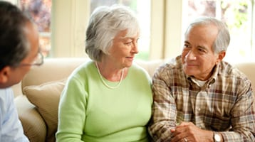 Older couple in discussion