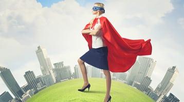 superhero businesswoman
