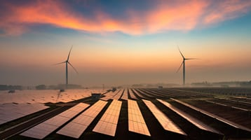 wind turbines and solar power socially responsible investing