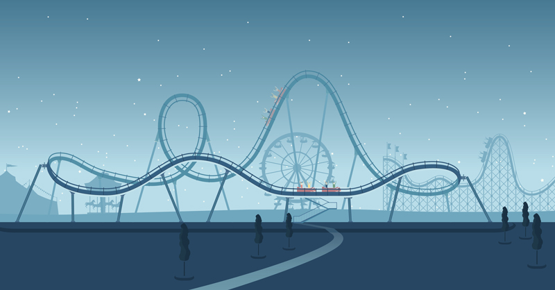 illustration of a roller coaster
