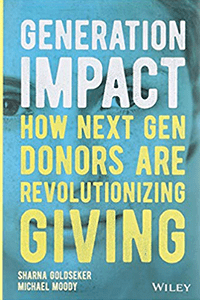 "Cover image for ""Generation Impact"" a book by Sharna Goldseker and Michael Moody"