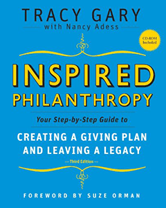 "Cover image of ""Inspired Philanthropy"" a book by Tracy Gary."